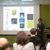 Neurons on the net presentation by Dr. Giorgio Ascoli, University Professor in the Bioengineering Department, Volgenau School of Engineering, director of the Center for Neural Informatics, and principal investigator of NeuroMorpho.Org at the 100,000 Neurons and Counting conference in the Krasnow Institute. Photo by Bethany Camp/Creative Services/George Mason University.