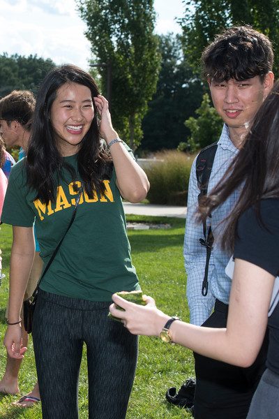 The Japanese student association hosts a watermelon smashing activity, which is very popular in Japan. Photo  by Bethany Camp/Creative Services/George Mason University