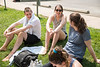 Students hanging out in President's Park. (Bethany Camp/Creative Services/George Mason University)