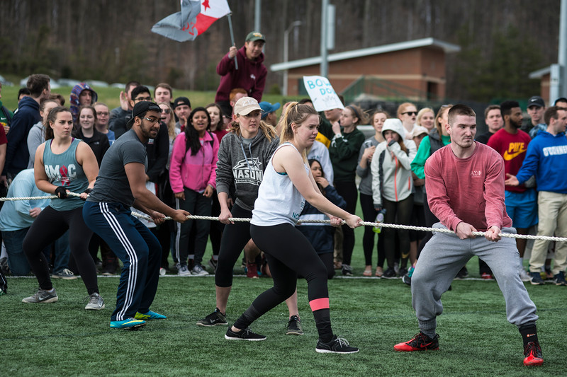 Students participate in the Greek Games during Greek Week. Photo by Bethany Camp / Creative Services / George Mason University