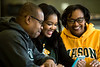 Families in Taylor Hall on George Mason's Fairfax campus. Photo by Bethany Camp/Creative Services/George Mason University