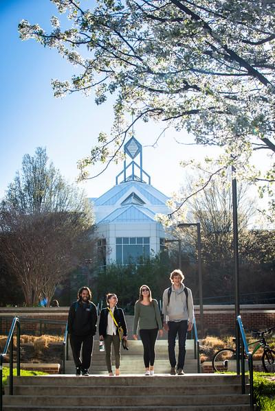 Students walking on the Fairfax Campus