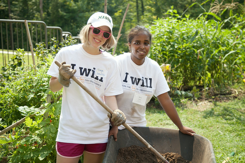 9/11 Day of Service at Potomac Heights Vegetable Garden