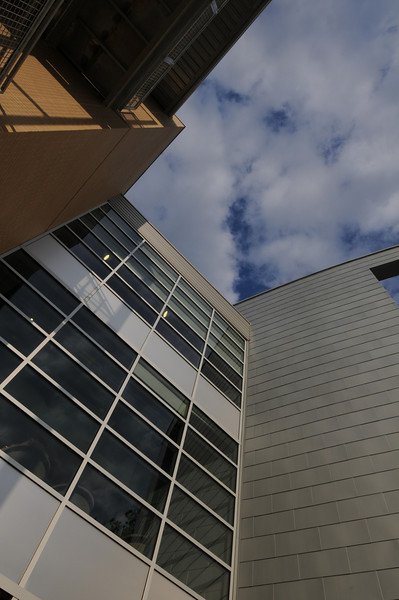 Art and Design Building on the Fairfax Campus. Photo by Evan Cantwell/George Mason University