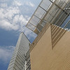 Side of Art and Design building at the Fairfax Campus. Photo by Evan Cantwell/George Mason University