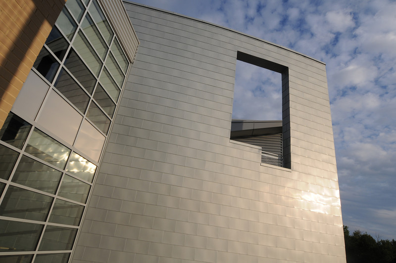 Architectural detail of the Art and Design Building on the Fairfax Campus. Photo by Evan Cantwell/George Mason University