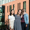 Khue-Tu Nguyen, Beverly Harp, and Asha Athman landed prestigious scholarships that will carry them overseas to further study a language while serving as American cultural ambassadors.  Photo by:  Ron Aira/Creative Services/George Mason University