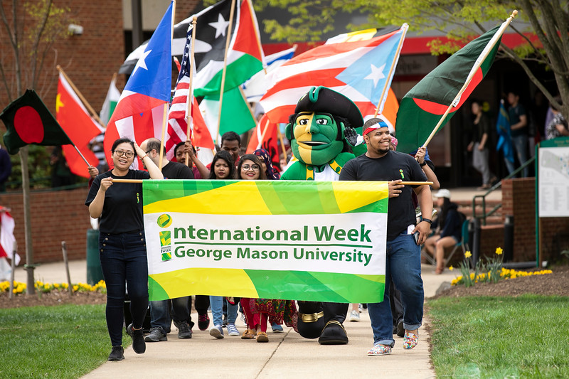 iWeek Parade 2019.  Photo by:  Creative Services/George Mason University