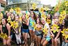 Sorority sisters celebrate bid day.  Photo by:  Ron Aira/Creative Services/George Mason University