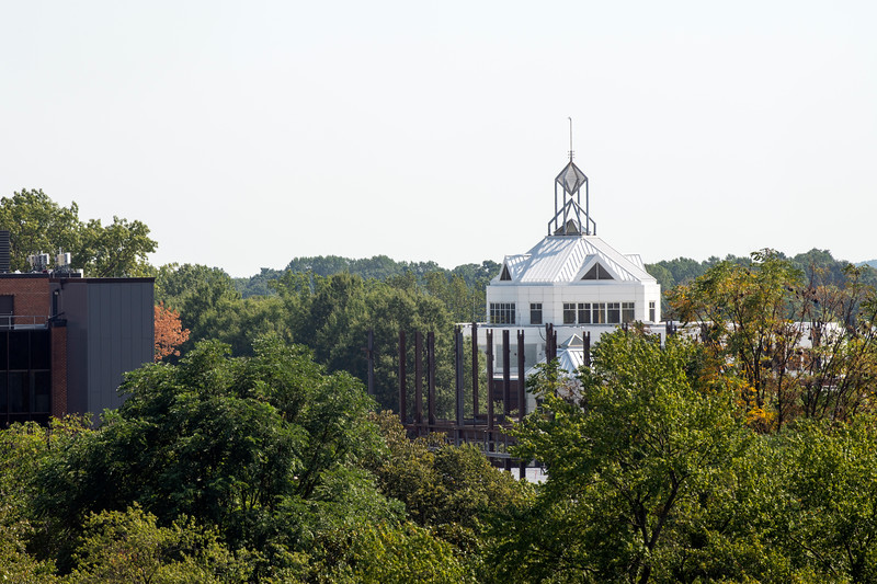Johnson Center with Construction