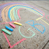 LGBTQ chalk drawing