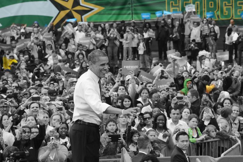 President Obama campaign rally