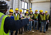 Mason civil engineering students tour a wastewater treatment plant.  - VSE