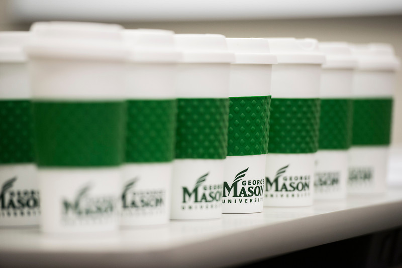 Coffee cups with Mason logo