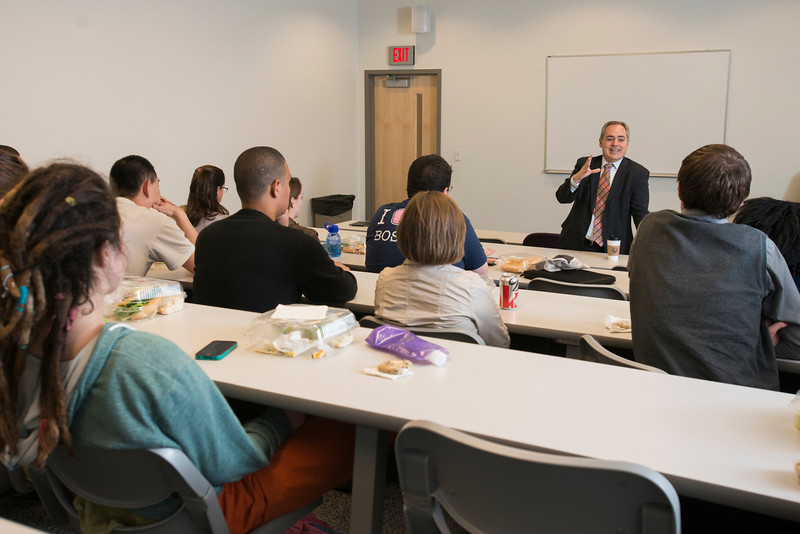 President Ángel Cabrera speaks to the Global Politics Fellows