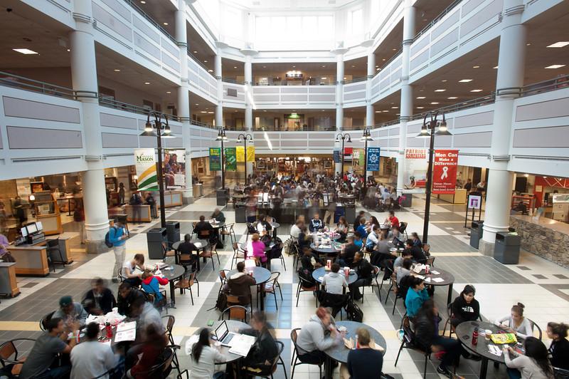 Johnson Center - Food Court, interior seating Photo by Alexis Glenn