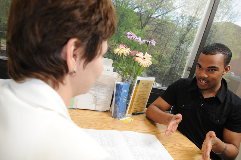 A career counseling sessions offered by Career Services.  Photo by Creative Services/George Mason University