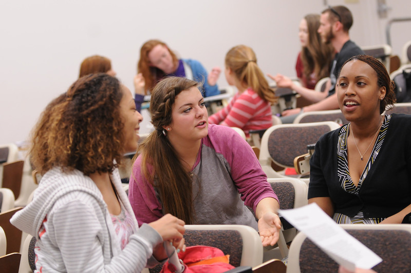 Conflict Analysis & Resolution undergraduate students in the classroom