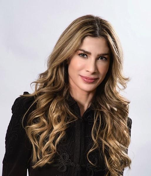 Al Hurra TV anchor and film studies student Arwa Sawan. Handout