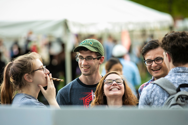 Night Market 2019 at Merten Hall lawn.  Photo by:  Ron Aira/Creative Services/George Mason University