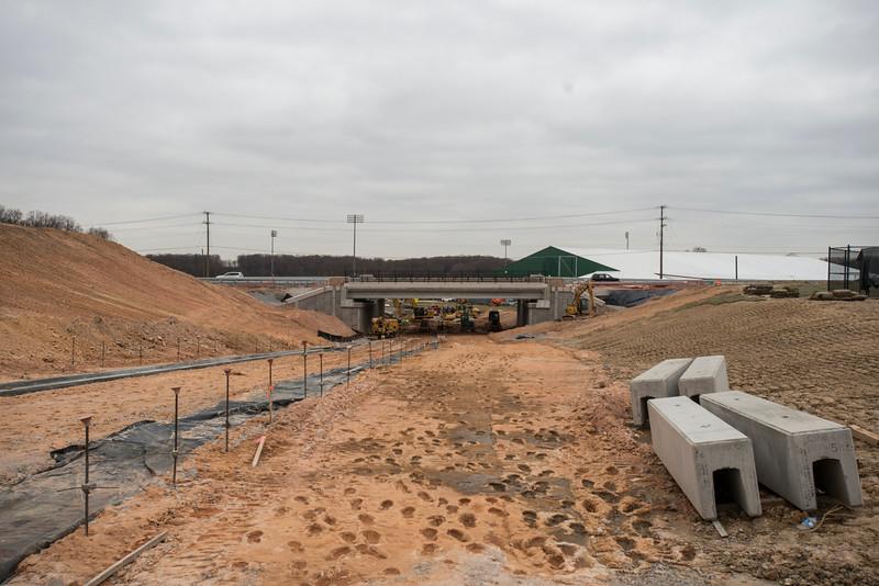 Campus Drive construction