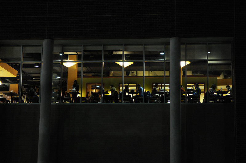 Southside window at night