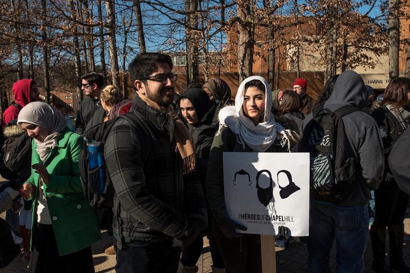 Vigil to honor victims of shooting at University of North Carolina at Chapel Hill