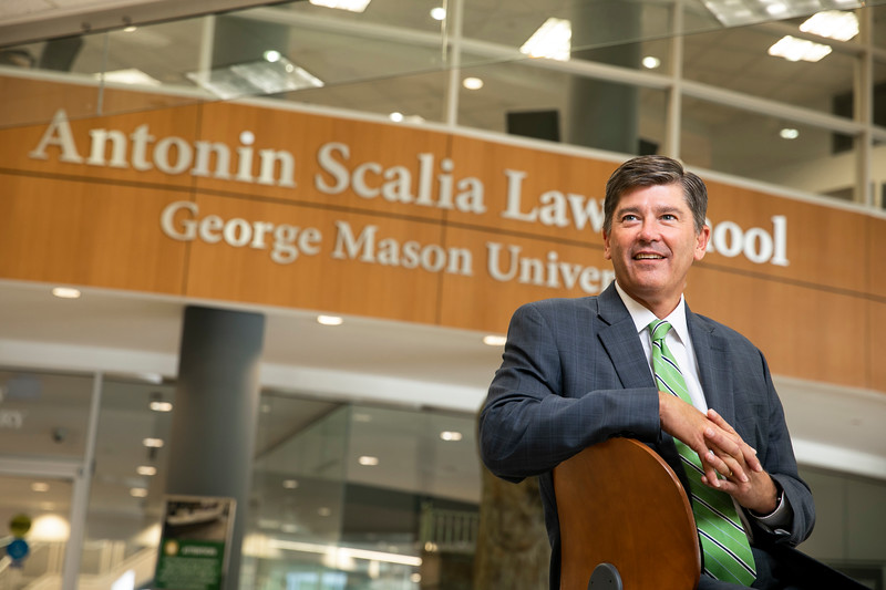 Peter Davidson, Deputy Dean for Strategic Initiatives, Antonin Scalia Law School.  Photo by:  Ron Aira/Creative Services/George Mason University