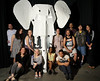 The elephant and the Sculpture I class that made it. Handout