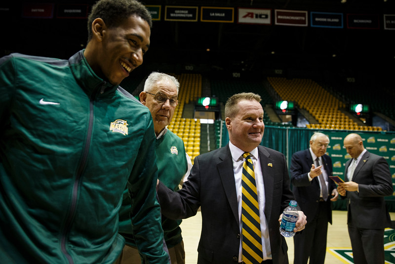 George Mason University announced today that three-time Patriot League Coach of the Year Dave Paulsen has been hired as the 10th men's basketball head coach in program history.  Photo by Craig Bisacre/Creative Services/George Mason University