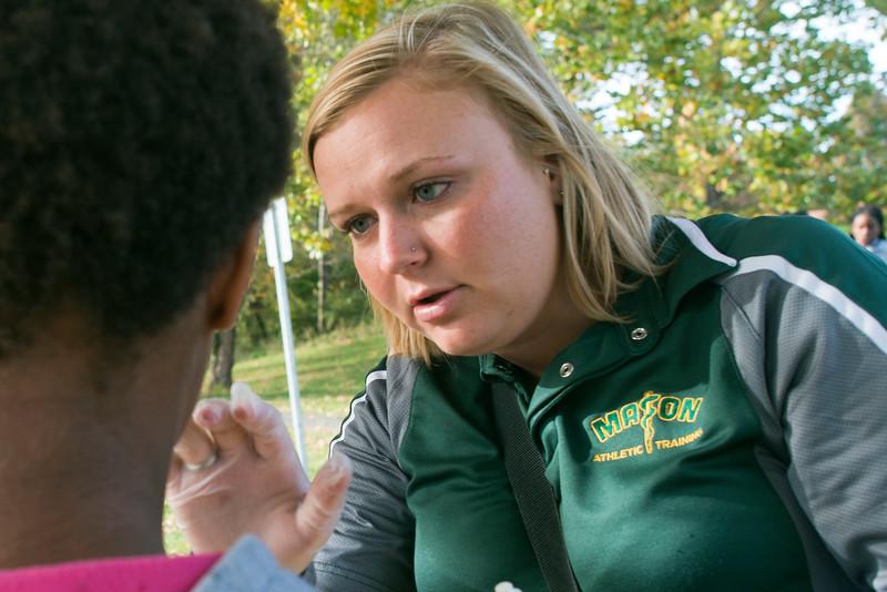 Sara Woodring, athletic trainer