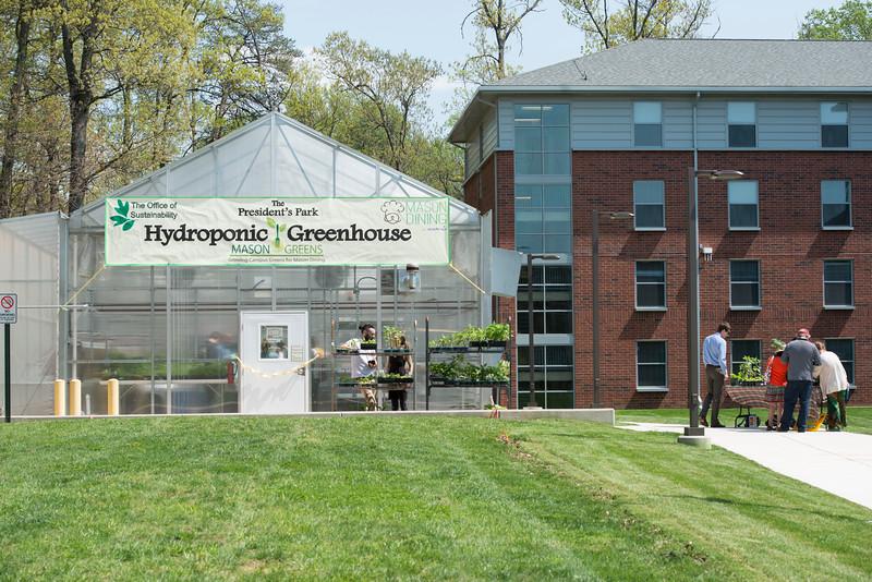 President's Park Hydroponic Greenhouse