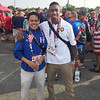 George Mason police officers Hansel Aguilar and Travis Willis attend the opening ceremonies of the 2015 World Police and Fire Games at RFK Stadium in Washington, DC. Handout