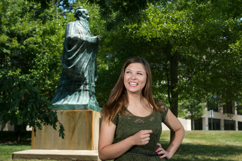 Theater student Janey Robideau