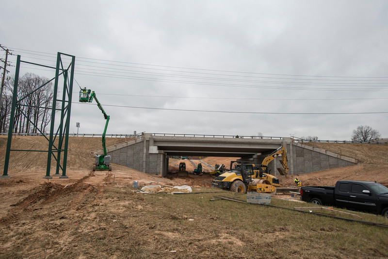 Campus Drive construction