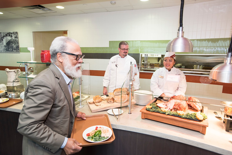 Rutledge Dennis dines at The Mason Club, a new faculty and staff dining room and lounge opens in Fairfax Campus.  Photo by:  Ron Aira/Creative Services/George Mason University