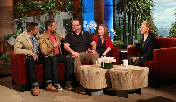Military veteran Mark Little gets a home renovation surprise from Ellen. Provided by Ellen