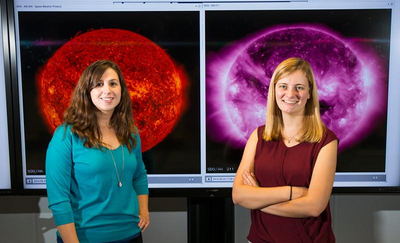 Undergraduate student Jenna Zink and alumna Rebekah Evans