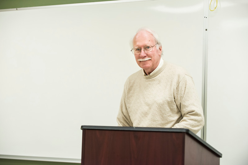 Don Gallehr is being honored for 50 years of teaching at Mason.  Photo by:  Ron Aira/Creative Services/George Mason University