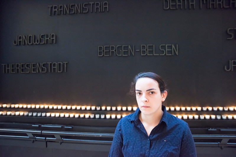 Zeljana Varga did a study at the Holocaust Museum and discovered the importance of spoons to the concentration camp prisoners.   Photo by:  Ron Aira/Creative Services/George Mason University
