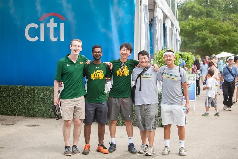 George Mason Students enjoying a day at Washington DC's Citi Open Tennis Tournament.  Photo by:  Ron Aira/Creative Services/George Mason University
