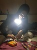 Working on the O2 Analyzer in my homestay while balancing a flashlight on my shoulder (the lights had gone out).  Provided by Sameen Yusuf