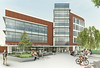 A rendering of the new College of Health and Human Services building at Fairfax Campus. Provided by Perkins Eastman