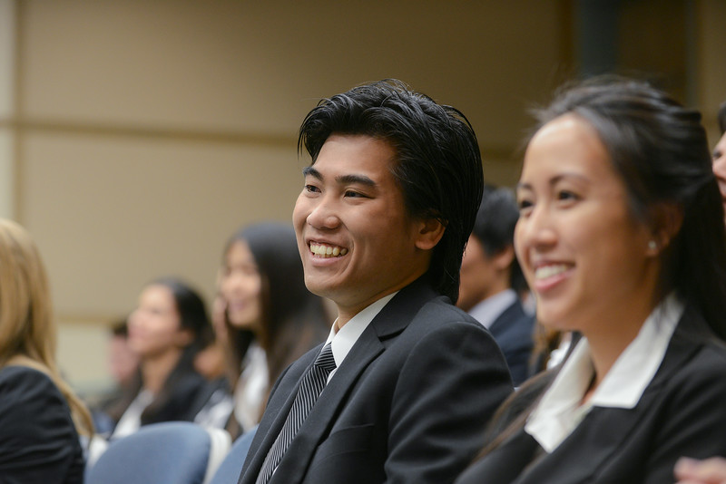 School of Management students compete in the capstone competion.  Photo by Evan Cantwell/George Mason University