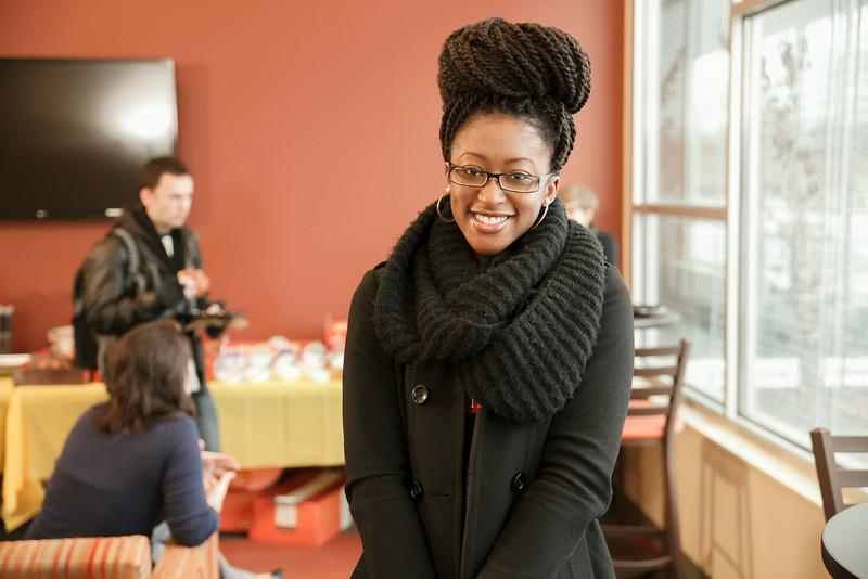 Students enjoy breakfast at Beacon Hall