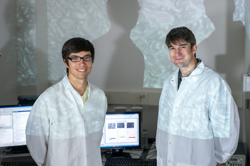 Student Marcus Daum and Assistant Professor Robert Cressman