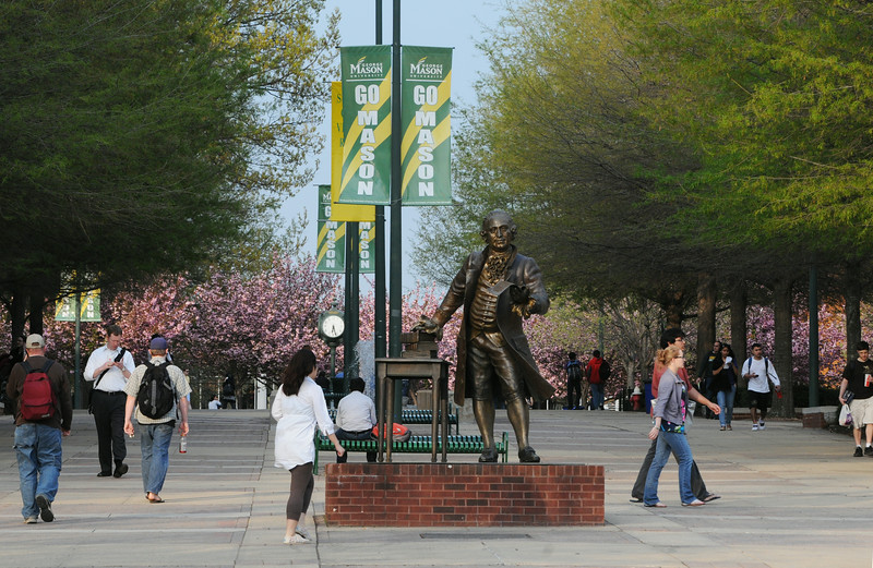 Fairfax campus in the Spring.  Photo by Evan Cantwell/Creative Services/George Mason University