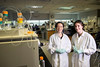 Current Princeton student Temple Douglas (on right), poses with her mentor Alessandra Luchini, Assistant Professor, Applied Proteomics & Molecular Medicine, in the Applied Proteomics & Molecular Medicine lab. Douglas interned with Luchini through the Aspiring Scientist Summer Internship Program.  Photo by Evan Cantwell/Creative Services/George Mason University.
