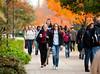 Students walk around Fairfax Campus between classes