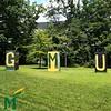 Sunny summer day on Mason's Fairfax campus. (Photo by Bethany Camp/Creative Services/George Mason University)